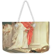 Parable Of The Wise And Foolish Virgins Weekender Tote Bag by Baron Ernest Friedrich von Liphart