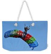 Parachutists Biplane Weekender Tote Bag