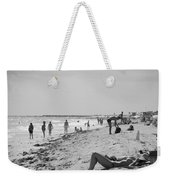 Paradise Beach In Black And White Weekender Tote Bag