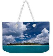 Paradise Is Sandy Cay Weekender Tote Bag by Adam Romanowicz