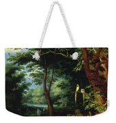 Paradise Scene With Adam And Eve Weekender Tote Bag