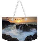 Paradise Sunset Splash Weekender Tote Bag