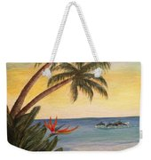 Paradise With Dolphins Weekender Tote Bag
