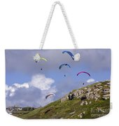 Paragliding Over Sennen Cove Weekender Tote Bag
