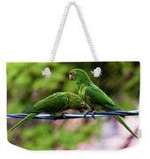 Parakeet Couple Weekender Tote Bag