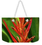 Parakeet Flower Exotic Weekender Tote Bag