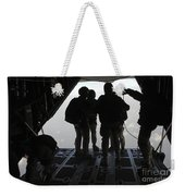 Pararescuemen Prepare For A Halo Jump Weekender Tote Bag