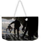 Paratroopers Jump Out Of A Kc-130j Weekender Tote Bag