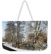 Walk In A Snowy Park Weekender Tote Bag