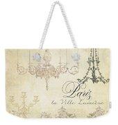 Parchment Paris - City Of Light Chandelier Candelabra Chalk Weekender Tote Bag