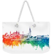 Pardubice Skyline City Color Weekender Tote Bag