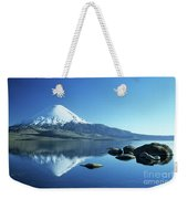 Parinacota Volcano Reflections Chile Weekender Tote Bag