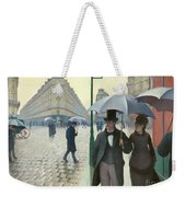 Paris A Rainy Day - Gustave Caillebotte Weekender Tote Bag