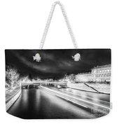 Paris At Night 19 Bw Art  Weekender Tote Bag