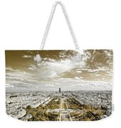Paris City View 20 Sepia Weekender Tote Bag