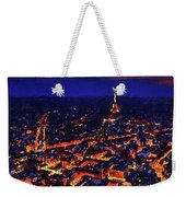 Paris City View Weekender Tote Bag