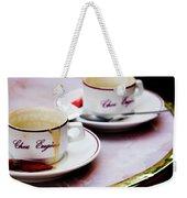 Paris Coffee Cups Weekender Tote Bag