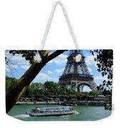 Paris Eiffel Boat Weekender Tote Bag