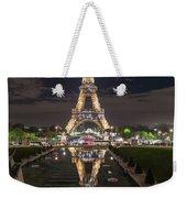 Paris Eiffel Tower Dazzling At Night Weekender Tote Bag