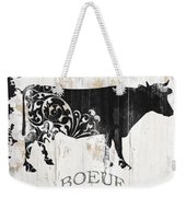 Paris Farm Sign Cow Weekender Tote Bag