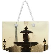 Paris Fountain In Sepia Weekender Tote Bag