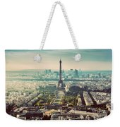 Paris, France Vintage Skyline, Panorama. Eiffel Tower, Champ De Mars Weekender Tote Bag