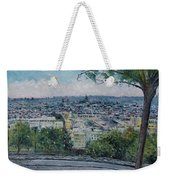 Paris From The Sacre Coeur Montmartre France 2016 Weekender Tote Bag