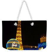 Paris Hotel At Night Weekender Tote Bag