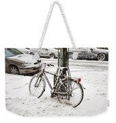 Paris In Snow Weekender Tote Bag