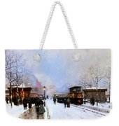 Paris In Winter Weekender Tote Bag by Luigi Loir