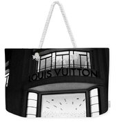 Paris Louis Vuitton Boutique - Louis Vuitton Paris Black And White Art Deco Weekender Tote Bag
