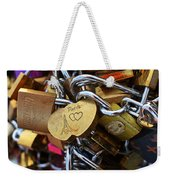 Paris Love Locks Paris France Color Weekender Tote Bag
