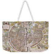 Paris Map, 1581 Weekender Tote Bag