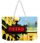 Paris Metro Stop Weekender Tote Bag