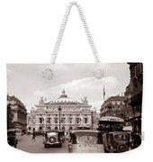 Paris Opera 1935 Sepia Weekender Tote Bag