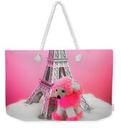 Paris Poodle Weekender Tote Bag