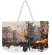 Paris, Porte Saint Denis In Winter Weekender Tote Bag