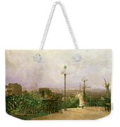 Paris Seen From The Heights Of Montmartre Weekender Tote Bag by Jean dAlheim
