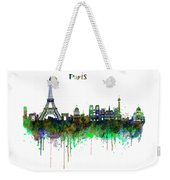 Paris Skyline Watercolor Weekender Tote Bag