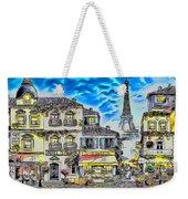 Paris Street Abstract 3 Weekender Tote Bag