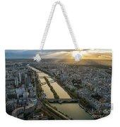 Paris Sunrays Dusk Along The Seine Weekender Tote Bag