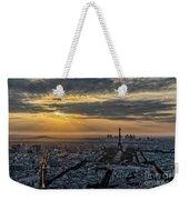 Paris Sunset Weekender Tote Bag