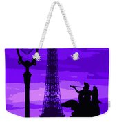 Paris Tour Eiffel Violet Weekender Tote Bag
