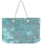 Paris Traffic Abstract Blue Map Weekender Tote Bag
