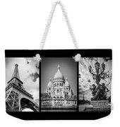 Paris Triptych Weekender Tote Bag