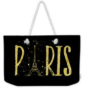 Paris Typografie - Gold Splashes Weekender Tote Bag