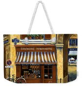 Parisian Bistro And Butcher Shop Weekender Tote Bag by Marilyn Dunlap
