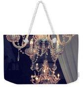 Parisian Crystal Chandelier - Chandelier In Window - Paris Gold Crystal Chandelier Decor Weekender Tote Bag
