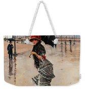 Parisienne On A Rainy Day Weekender Tote Bag