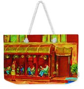 Park Avenue Montreal Cafe Scene Weekender Tote Bag